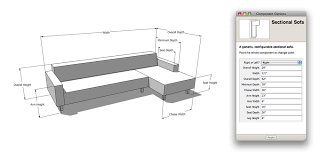 Sectional Sofa Dimensions by The Nerdiest Sofa Shopping Tool Ever Sketchup Blog