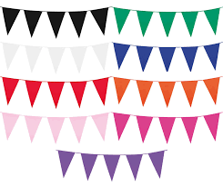 Plastic Flags 10m Flag Pennant Plastic Bunting Garland Summer Garden Party Pub