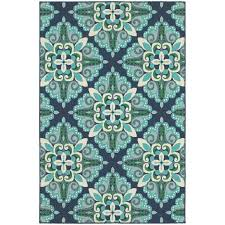 Blue And Green Outdoor Rug Beachcrest Home Kailani Contemporary Blue Green Indoor Outdoor