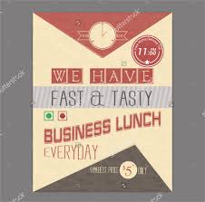 sample lunch flyer
