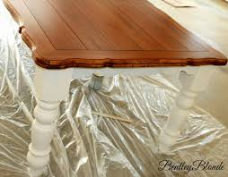 White Painted Oak Furniture Bentleyblonde Diy Farmhouse Table U0026 Dining Set Makeover With