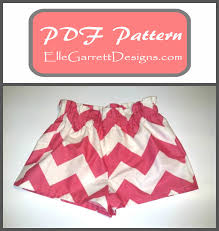 paper bag toddler shorts pattern paperbag shorts size 18 month girls 12 pdf pattern from