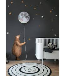 moon u0026 stars kids wall sticker kids wall stickers star kids and