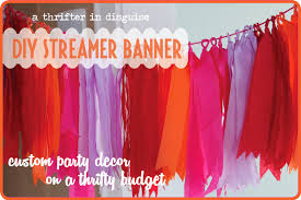paper crepe streamers a thrifter in disguise diy crepe paper party banner