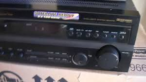 sherwood home theater receiver optimus stav 3690 home theater receiver 5 1 youtube