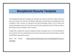 61 receptionist resumes receptionist resume sample skills