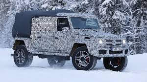 mercedes g class 2018 mercedes g class 4x4 spied as double cab pickup