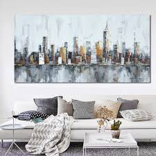 Handmade In New York - 2016 new york skyline cityscape architecture abstract wall