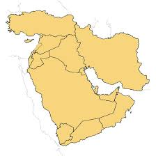 outline map middle east vector map of middle east at vectorportal