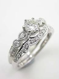 vintage wedding bands for best 25 antique style engagement rings ideas on