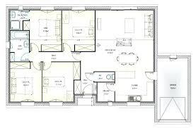 plan de maison plain pied 4 chambres plan maison une chambre plan maison plain pied 3 chambres 100m2 3
