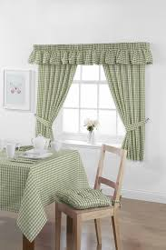 Green Gingham Curtains Nursery by Main Street Fence Home Decoration Ideas