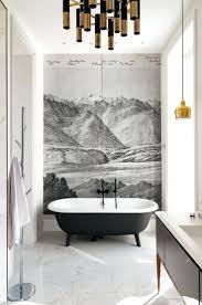 bathroom waterproof wallpaper best wall paper ideas on half black
