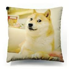 Doge Wow Meme - hot funny doge cushion cover dogs wow such face much meme dog