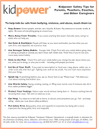 Stranger Danger Worksheets Kidpower Safety Tips Handouts Kidpower International