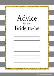 Bride Cards Printable Advice For The Bride To Be Cards
