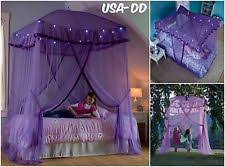 Purple Bed Canopy Lighted Bed Canopy Jellyfish Hideaway Light Kids Girls Princess