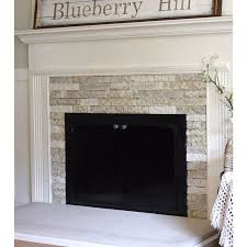 airstone birch bluff for the fireplace for the home