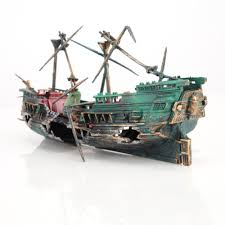 buy aquarium shipwreck ornaments and get free shipping on aliexpress