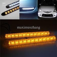 automotive led light bars 2x flexible 12 led light bar auto drl lens led lights strip
