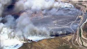 California Wildfire Satellite View by Damage Assessment Teams Report 96 Homes Destroyed In The Blue Cut