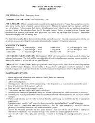 Room Attendant Job Description For Resume by Er Rn Resume Resume Cv Cover Letter