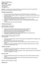 Freelance Writer Resume Sample by Examples Of The Resume Objectives Of Freelance Writers