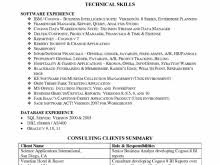 technical skill set in resume free resume
