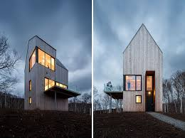 Contemporary Cabin This Tall Cabin Overlooking The Canadian Coastline Is A Quiet