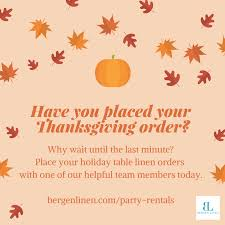 bergen linen fall and thanksgiving rentals available did