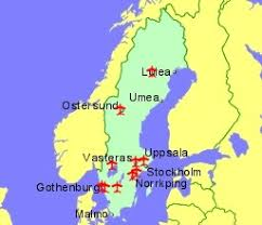 map of sweden airports in sweden with flights from the uk and ireland