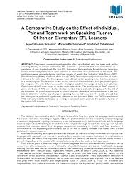 a comparative study on the effect of individual pair and team