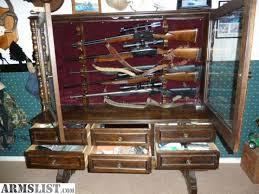 gun cabinet for sale armslist for sale custom wooden gun cabinet hold guns horizontal