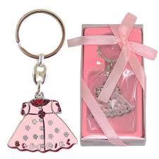 Popular Lembrancinhas Chá de Bebê Chaveiro Vestido Rosa Baby Girl Menina  #VI45