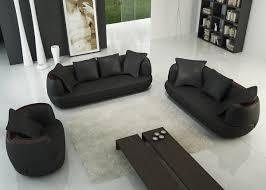 canap 3 2 places deco in ensemble canape 3 2 1 places noir en cuir ryga ryga