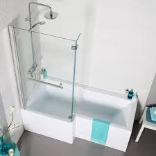 alluring l shape bath tub with frameless shower screen and alluring l shape bath tub with frameless shower screen and stainless shower head at small bathroom remodel ideas