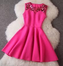 dress pink pink plain pleated neck sleeveless high waisted princess