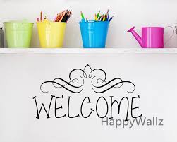 Home Decorating Quotes by Aliexpress Com Buy Welcome Home Family Quote Wall Sticker Family