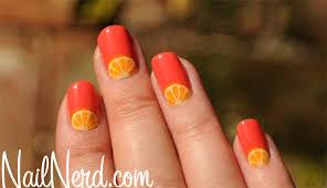 nail nerd nail art for nerds how to do orange wedge nails