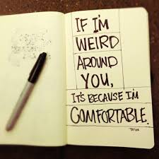 I Am Comfortable I Am Always Very Quiet And Shy Until You Get To Know Me Then I Am