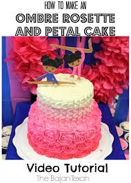 cake ideas rosette petal two tier cake tutorial u2013 the bajan texan