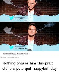 Chris Pratt Meme - kingraccoon feok off chris kingraccoon frak off chris pratt aww