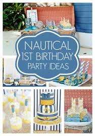 Nautical Party Theme - nautical first birthday party theme best birthday party themes ideas