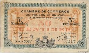 chambre de commerce var 50 centimes regionalism and miscellaneous toulon 1919 jp