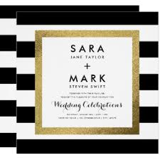black and white striped wedding invitations black and white wedding invitations zazzle