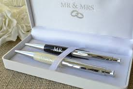 wedding guest book and pen set wedding guest book pen set 2 mr mrs wedding pens in luxury