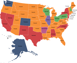 Show United States Map by What Languages Do Public Library Collections Speak