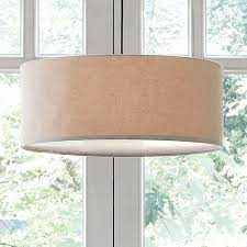 Dining Room Drum Light Appealing Drum Pendant Linen West Elm In Light