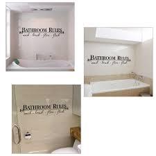 online shop bathroom rules sale art words beauty farm wall
