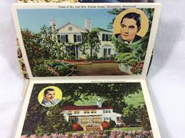 linen postcard folders homes of the movie stars sold on ruby lane